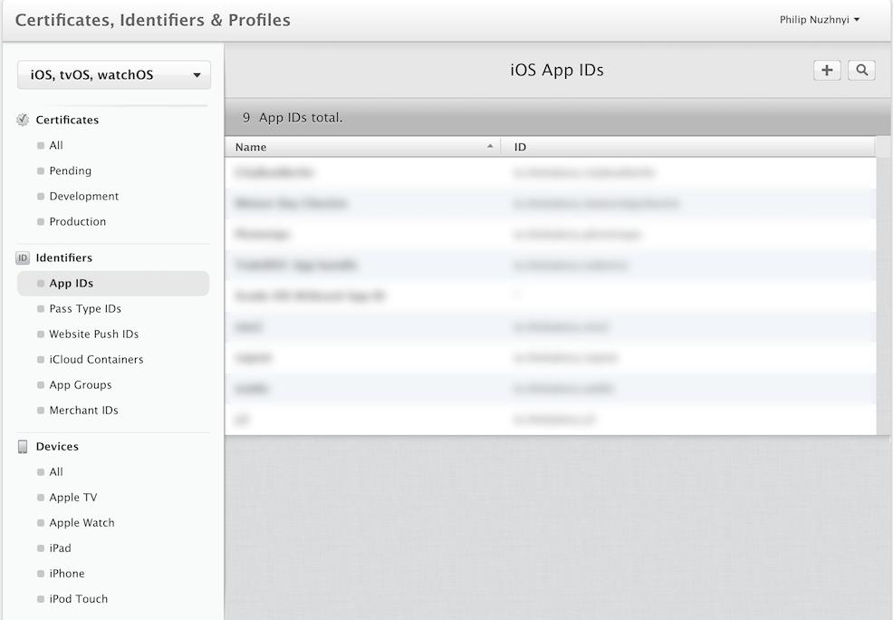 Create application ID in Developer Portal